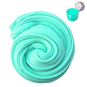 Fluffy Slime - 200g Fun Pack Scented Making Slime Toys for Children & Adults, Super Soft, Non-Sticky & Non-Toxic, Ideal Kids School Arts Crafts Projects Supplies by Wonder Space (Green)