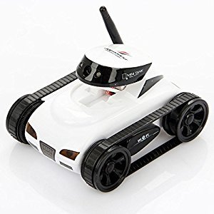 I_spy Mini Wilreless Spy Tank Rc Car with 0.3mp Hd Camera (White?wifi Controlled By Iphone Android