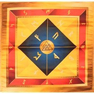 Rune tissu sur l'autel celtique Wicca Runes