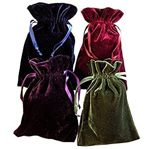 Tarot Rune Bag Bundle of 4 - One of Each Color : Moss Green, Navy Blue, Purple, Wine 4