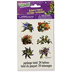 Teenage Mutant Ninja Turtles Tattoo Sheets, 4ct