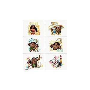 Unique 59831 Disney Moana Temporary Tattoos, 24 Count