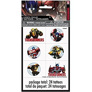 Unique Transformers Temporary Tattoos, 24 Count