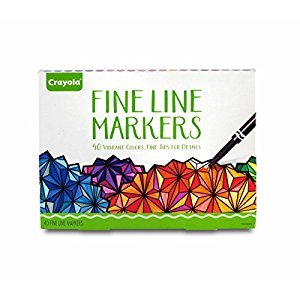 Crayola Adult Coloring, 40Ct Fine Line Markers, Great for Adult Coloring Books