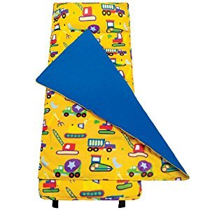 Wildkin Kids' Under Construction Nap Mat, Yellow