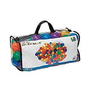Intex Small Fun Ballz - 100 Multi-Colored 2 1/2