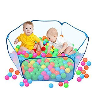 SUGAR Q /Canaloha 2018 New Children Safety Baby Playpen, Eco-Friendly Folding Ocean Ball tent Pit pool Holder Portable Outdoor Indoor Fun Play Toy game Play House Hut Blue (balls are not include)