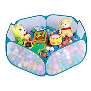 ZeleSouris Kids Pop Up Ball Pit Play Baby Ball Pool Garden Play Tent House Sports Toy Kids Toddlers Age 1/2/3 Toys -Balls Not Included!(Blue(semitransparent))
