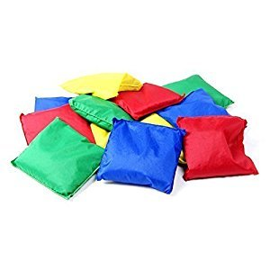 Tytroy 1 Dozen 5in Assorted Nylon Bean Bags Toy Game Toss Carnival Kids Game