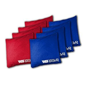 Wild Sports BB-BBT-1 The Original Tailgate Toss Bean Bag Set, Red and Blue