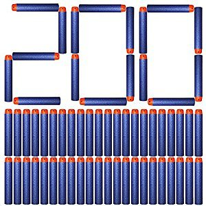AMOSTING Foam Bullets Refill Dart Pack for N-Strike Elite Blasters Nerf Guns Standard Size–200PCS Blue