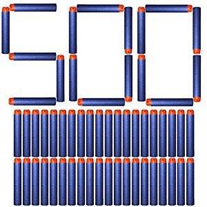 AMOSTING Foam Bullets Refill Dart Pack for N-Strike Elite Blasters Nerf Guns Standard Size–500PCS Blue