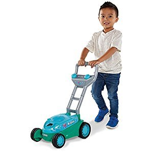 Kid Galaxy 20114 Mr. Bubble Lawn Mower Toy, Blue/Teal, 20 x 14 x 10.75