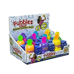 Little Kids Fubbles No-Spill Bubble Tumbler Minis Party Pack, 12-Pack