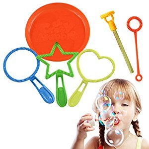 TOYMYTOY 6 Pcs Bubble Wand Tool Bubble Maker Blower Set for Kids Children Fun Toys