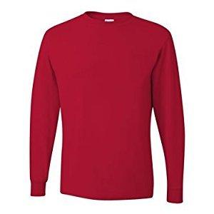 Jerzees Adult Long-Sleeve Heavyweight BlendT-Shirt - True Red - 2XL