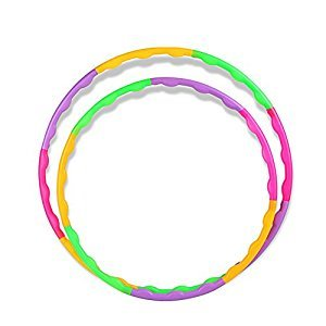 BlueSpace Kids Hula Hoop Snap Together Detachable Wave Hoop for Exercise Fitness Workout 21.65