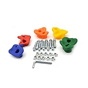 HappyPie Indoor Outdoor Board or Wall Small Pegs Plastic Rock Stones for Kids Exercise Climbing Hold Random Colours (Set of 5)