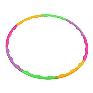 TOYMYTOY Hula Hoop Adjustable Detachable Fitness Exercise Workout Hula Hoops for Kids Children 65cm