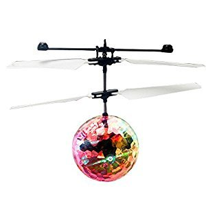 Elisona-RC Flying Helicopter Ball with Color Changing LED Flash Lights RC Toy for Kids Teenager