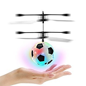 Flying Ball , LED RC Flying Ball Toy Hand Control Infrared Induction Helicopter Ball Built-in Shinning LED Lighting for Kids, Teenagers