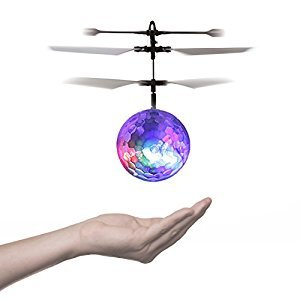 iUcar RC Toy, RC Flying Ball, RC infrared Induction Helicopter Ball Built-in Shinning LED Lighting for Kids, Teenagers Colorful Flyings for Kid's Toy