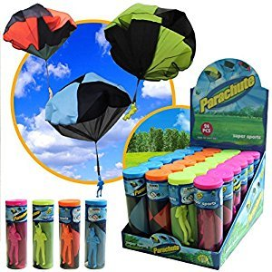 Play Parachute Toy Soldier Men Base Jumpers Kids Throwing Hand Toss Fly High Tangle-Free Outdoor Launcher Toys