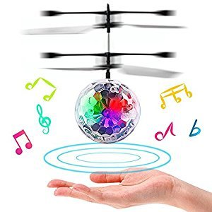 RC Music Flying Ball,Kid RC Toys Infrared Induction Helicopter Ball with Shinning LED Lights Colorful Remote Control Toys for Boys,Girls,Children,Teenager
