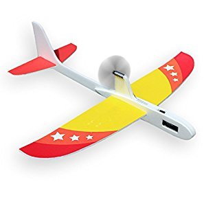 Upgrade Super Capacitor Electric Airplane Hand Throwing Free-flying Fix Wing Foam Glider Little Stars DIY Plane Model Educational Toy for Kids