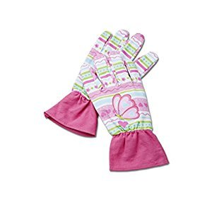 Melissa & Doug Cutie Pie Butterfly Gardening Gloves With Elastic Wrist Closure