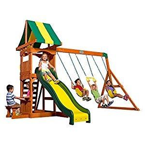 Backyard Discovery 65113 Weston All Cedar Playset Swing Set