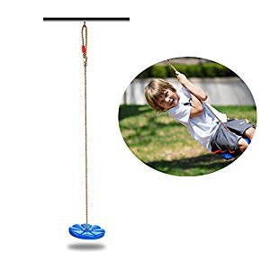 COMINGFIT® Disk Swing Seat Monkey Rope Tree Swing (Blue)