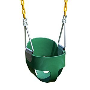 Eastern Jungle Gym High Back Full Bucket Swing with Coated Chain, Green