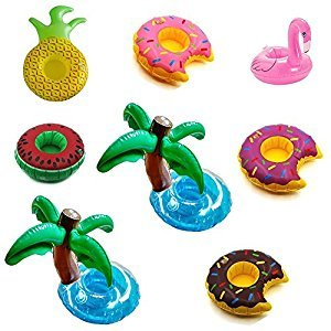 Inflatable Floating Fruit Drink Holder Set (8 Pack)