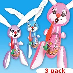 Set of 3 - Jumbo Inflatable Easter Bunny Inflates - 42 Inch Easter Rabbits