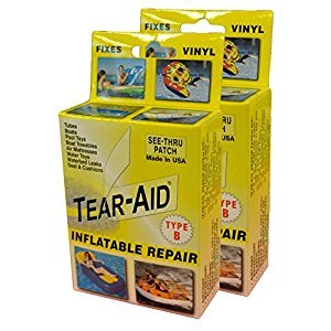 Tear-Aid Vinyl Inflatable Repair Kit, Yellow Box Type B (2 Pack)