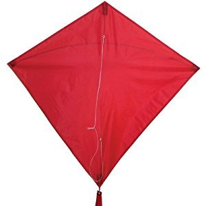 In The Breeze 30-Inch Diamond Kite, Red
