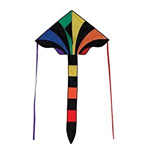In The Breeze 46-Inch Rainbow Sparkler Fly Hi Delta Kite