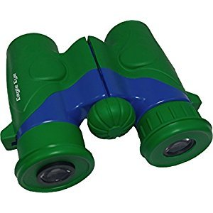Shock Proof, Waterproof, 6X21 Kids Binoculars With Wrist Strap and Case from Eagle Eye Explorer. Use for Bird Watching, Educational, Learning, Stargazing, Hunting, Hiking, Sports, Games, Outdoor Adventure, Astronomy. Safe for Boys and Girls. Color: Green