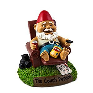BigMouth Couch Potato Garden Gnome Toy
