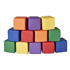 Soft Toddler Blocks, 5.5-Inch Foam Cubes