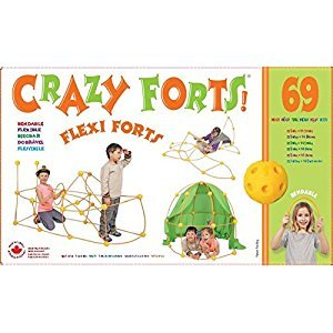 Crazy Forts Flexi Fort 69 Piece Construction Building Set with Bendable Rods
