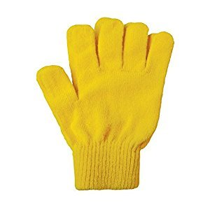 A&R Sports Knit Gloves, Gold, One Size