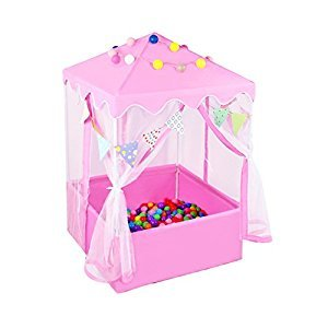 Kids Ball Pool Pink Playhouse 2 in 1 Princess Play Tent Folding Castle Tent For Girls