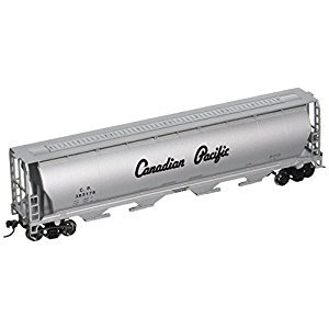 Bachmann Trains Canadian Pacific Silver Script 4-Bay Cylindrical Grain Hopper, HO Scale