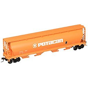 Bachmann Trains Potacan 4-Bay Cylindrical Grain Hopper, HO Scale