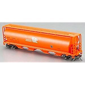 Bachmann Trains Potash Corporation Orange 4-Bay Cylindrical Grain Hopper, HO Scale