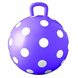 Ball Bounce and Sport Toys Purple Polka Dot Hopper