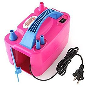 Amzdeal Electric Balloon Pump Dual Nozzle Balloon Inflator Portable 600W AC Balloon Blower for Party and Decoration