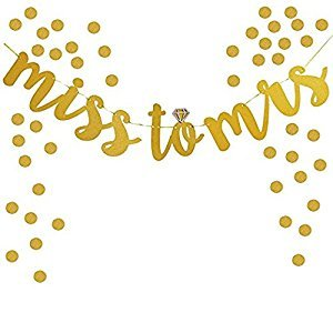 Miss to Mrs Banner,For Bridal Shower Engagement Party and Bachelorette Party Decoration Supplies
